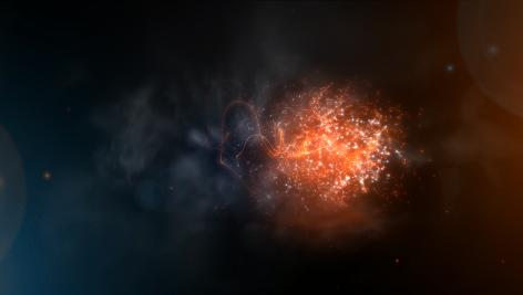 فوتیج جرقه آتش به همراه ذرات معلق