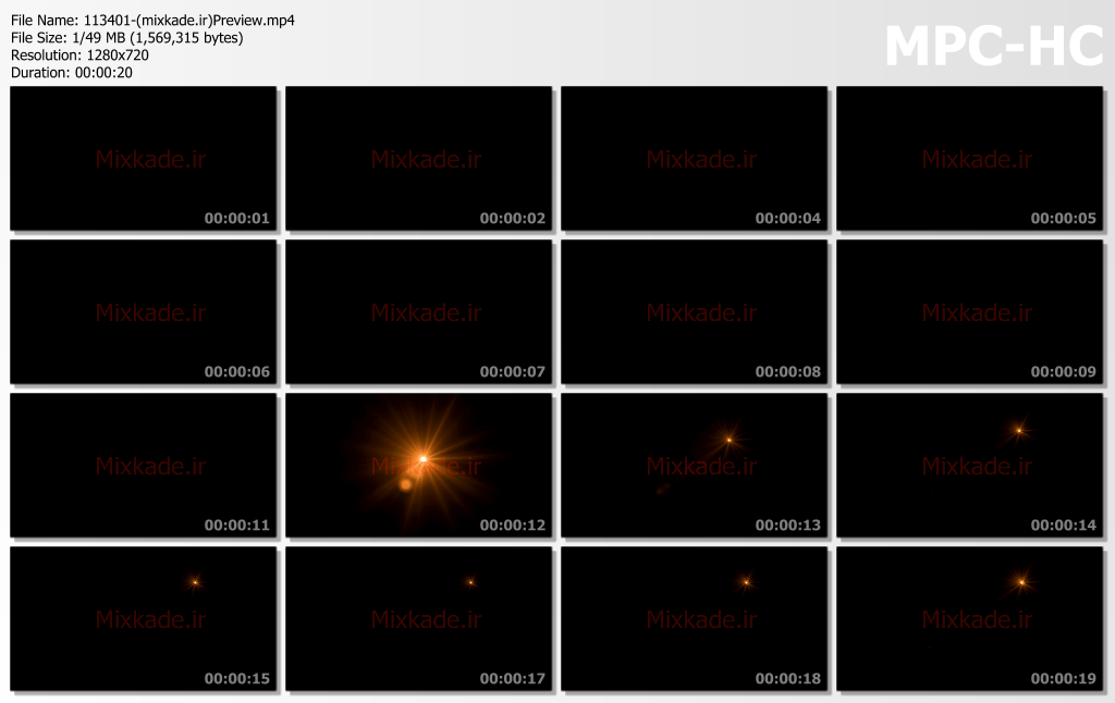 فوتیج لنزفلر-کد 113401