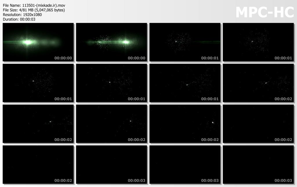 فوتیج نور و ذره-کد 113501