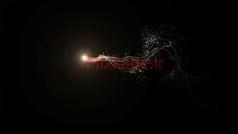 فوتیج ذرات و نور-کد 112029