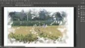 آموزش نقاشی آبرنگ در فتوشاپ