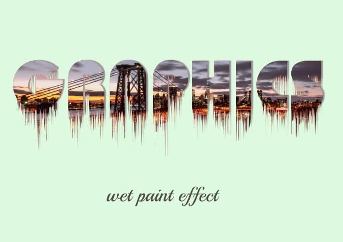 آموزش کورل دراو-طراحی متن با افکت wet paint