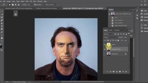 تلفیق و ترکیب چهره