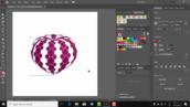 آموزش ایلاستریتور- طراحی شکل سه بعدی با الگوی دلخواه