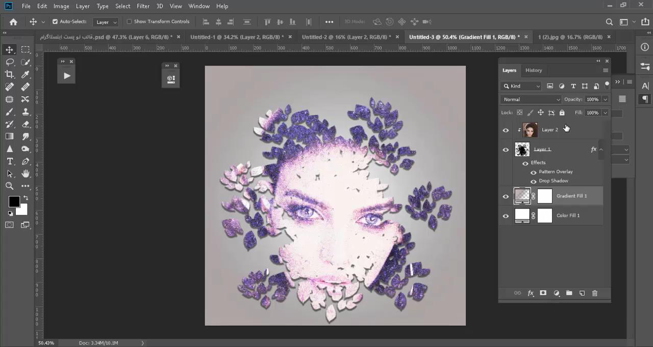 آموزش طراحی عکس پست اینستاگرام